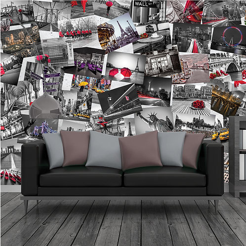 City Scene 64 Piece Creative Collage