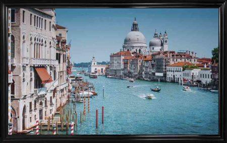 Venice Grand Canal Framed Liquid Wall Wall Art