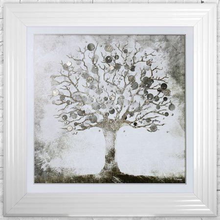 Money Tree Liquid Framed Wall Art
