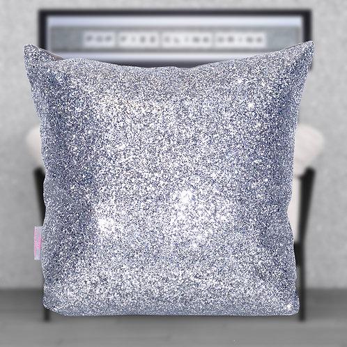 Silver Glitter Cushion