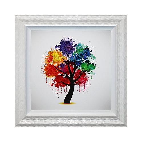 Celebration Tree II Liquid Framed Wall Art