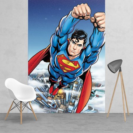 Action Superman Feature 2 Piece Wall Mural