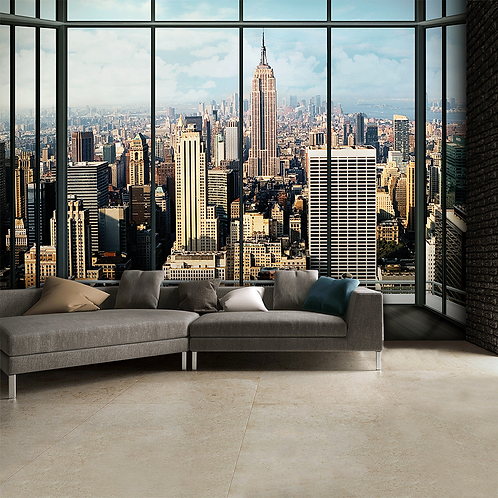 New York City Skyline Feature 4 Piece Wall Mural
