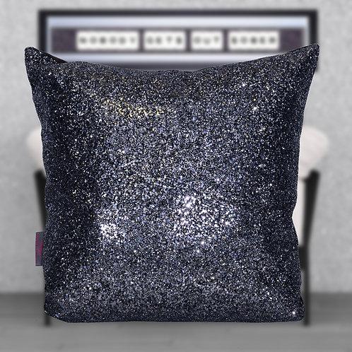 Dark Grey Glitter Cushion
