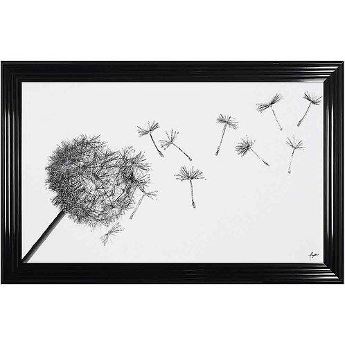 Dandelion Liquid Framed Wall Art
