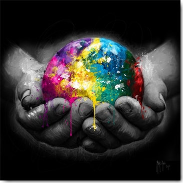 Patrice Murciano WE ARE THE WORLD Framed Wall Art