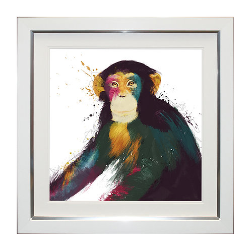 Chimp Framed Wall Art