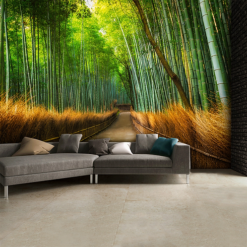 Bamboo Footpath Feature 4 Piece Wall Mural