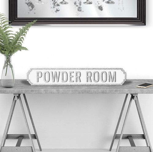 Powder Room Vintage Street Sign