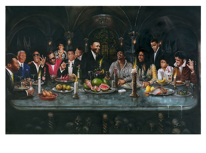 Last Black Supper Limited Edition Print by Paul Karslake