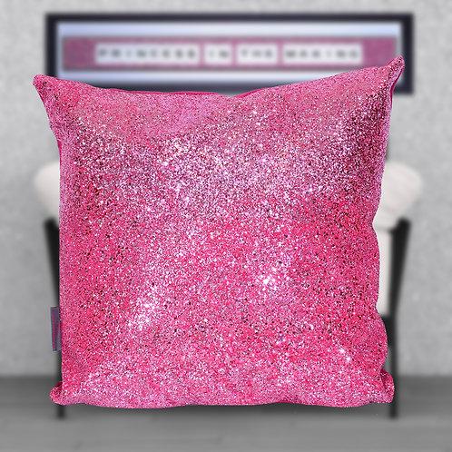 Pink Glitter Cushion