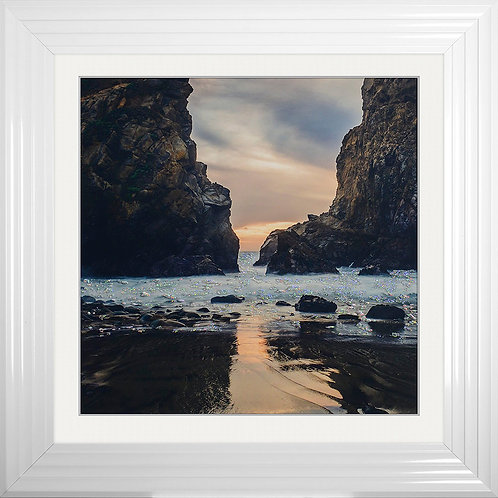 Beach 6 Framed Liquid Resin Artwork - 75x75cm