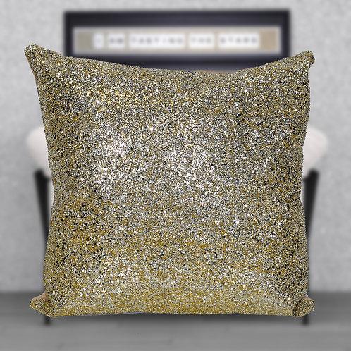 Gold Glitter Cushion