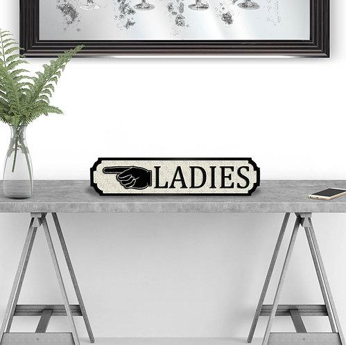 Ladies Vintage Street Sign