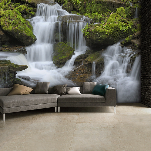 Waterfall Feature 4 Piece Wall Mural