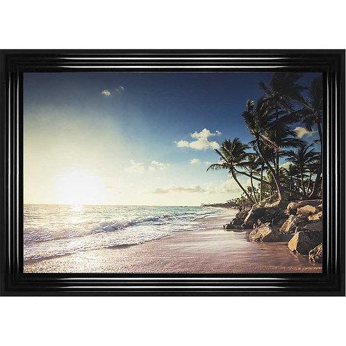 Paradise Beach Framed Liquid Wall Art