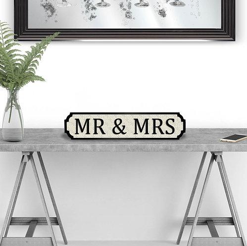 Mr & Mrs Vintage Street Sign