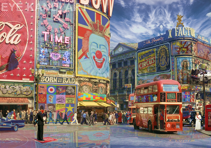 Dirty Hans POP GOES LONDON Limited Edition Print