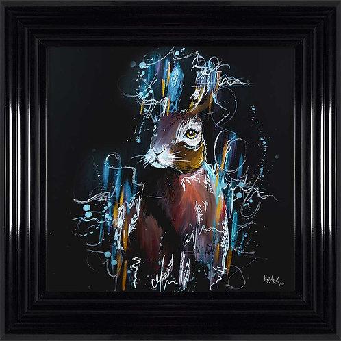 Hare Liquid Framed Wall Art