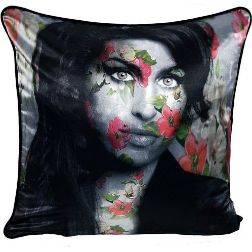 Dirty Hans Amy Winehouse Feather Filled Cushion