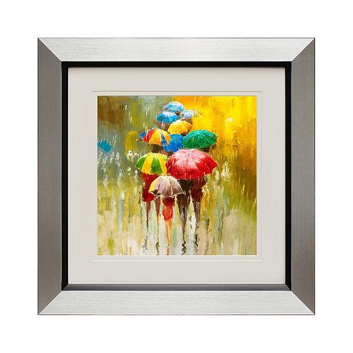 Les Parapluies II Framed Wall Art