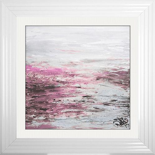 Blush Coast 2 Framed Liquid Resin Artwork - 75x75cm