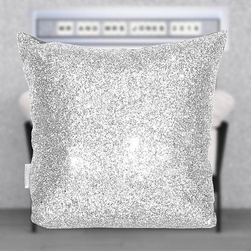 White Glitter Cushion