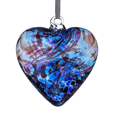 Friendship Hearts 8cm - Purple & Blue