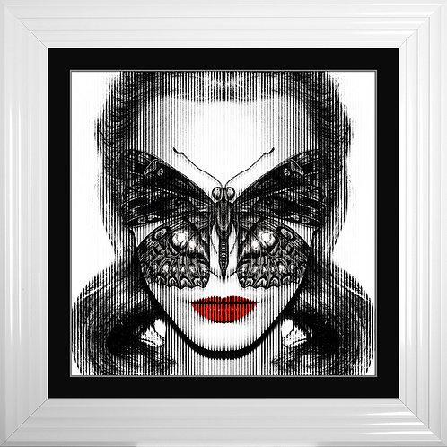 Cara Butterfly Framed Liquid Resin Artwork - 75x75cm