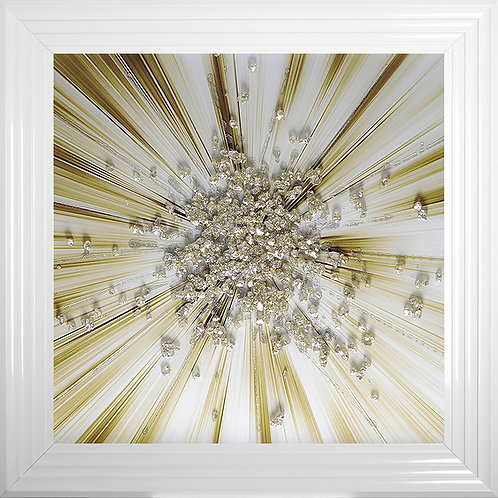 Gold ClusterBlast Framed Artwork - 75x75cm