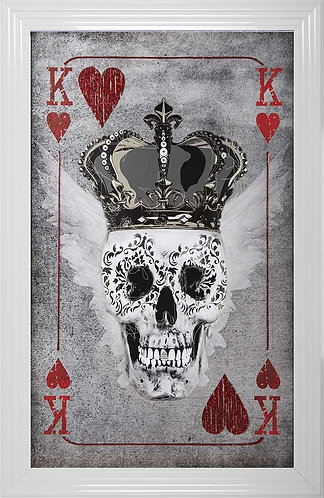 King of Hearts Playing Card Liquid Framed Artwork