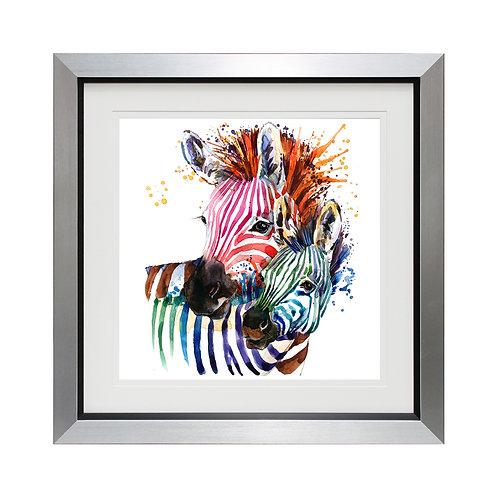 Party Zebras II Framed Wall Art