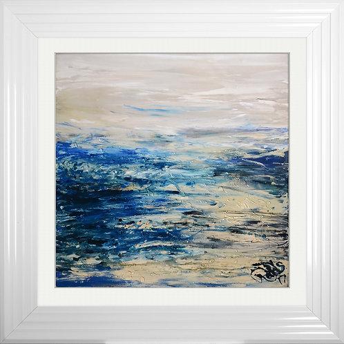 Coast 2 Framed Liquid Resin Artwork - 75x75cm