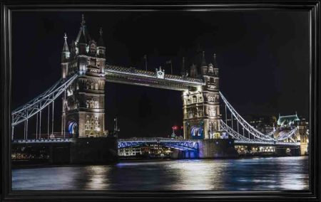 Tower Bridge Liquid Framed Wall Art