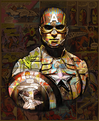 Dirty Hans CAPTAIN AMERICA Limited Edition Print