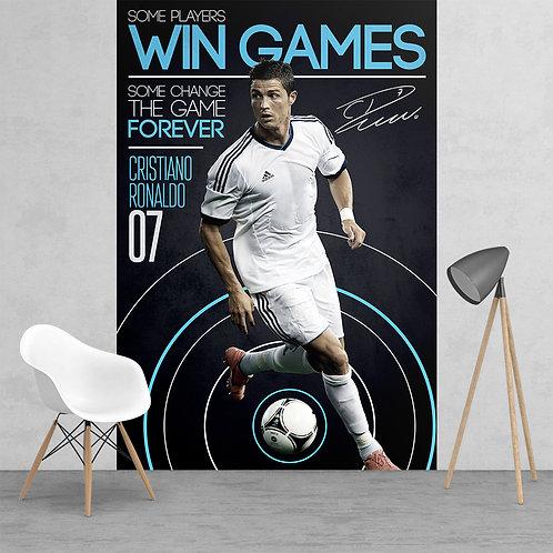 Cristiano Ronaldo Real Madrid Football Feature 2 Piece Wall Mural