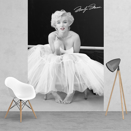 Iconic Black and White Marilyn Monroe Feature 2 Piece Wall Mural