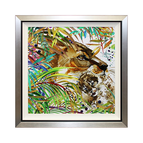 Pride Of The Jungle Liquid Art Framed Wall Art