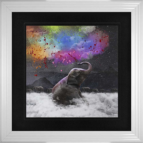 Elephant Dreams Liquid Resin Framed Wall Art