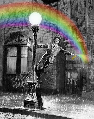 Dirty Hans SPRAYING IN THE RAIN Limited Edition Print