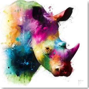 Patrice Murciano RHINOCEROS Framed Wall Art