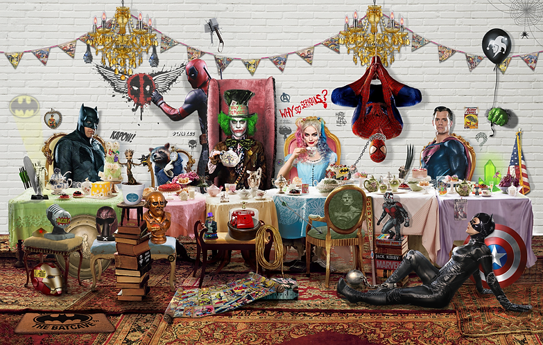 Dirty Hans TEA TIME HEROES Limited Edition Print