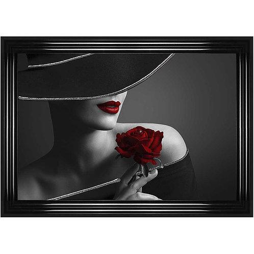 Rose Hat Framed Liquid Wall Art
