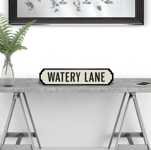 Watery Lane Vintage Street Sign