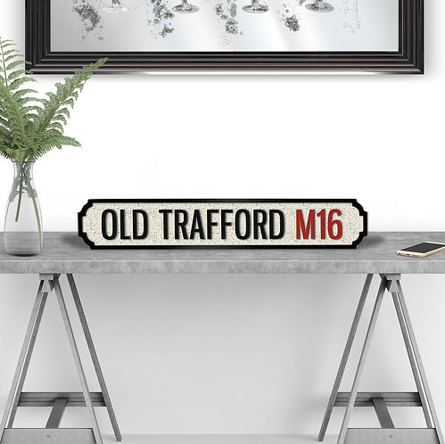 Old Trafford Vintage Street Sign