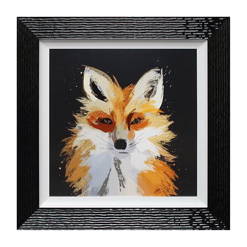 Scruffy Fox Liquid Art Framed Wall Art