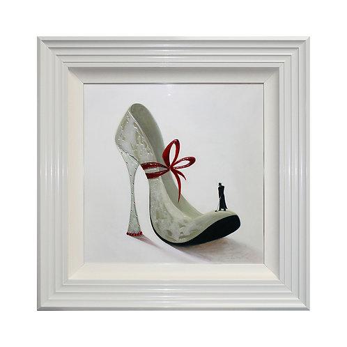 High Heels Romance Liquid Framed Wall Art