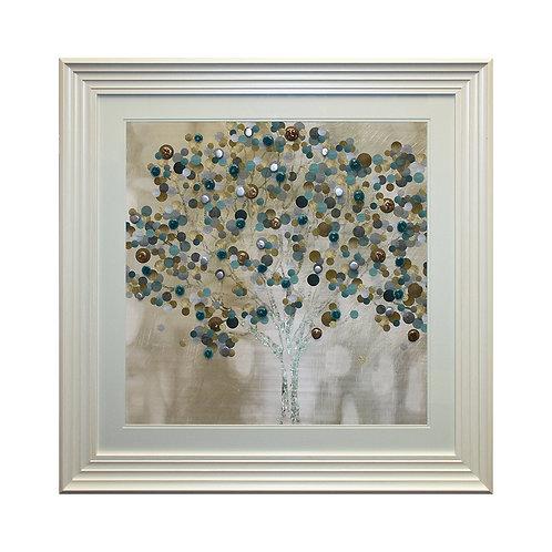 Bubble Tree Liquid Framed Wall Art