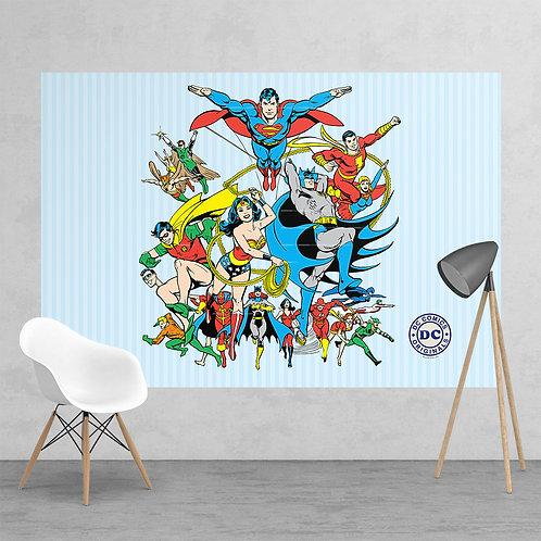 Vintage Classic DC Comic Superhero Feature 2 Piece Wall Mural