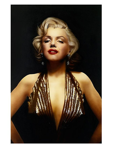 Marilyn Pure Gold Limited Edition Print by Paul Karslake